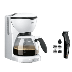 Braun Coffee Maker - KF520 with Babyliss Multi Trimmer - MT725SDE