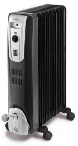 DeLonghi Oil Heater, 9 Fins, 2500 Watt, Black - KH770920.B