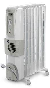 DeLonghi Oil Heater, 9 Fins, 2500 Watt, White - KH770925V