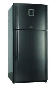 Kiriazi Freestanding Digital Refrigerator, No Frost, 2 Doors, 690 Liters, Black - KH690