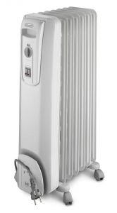 Delonghi Oil Heater, 7 Fins, 1500 Watt, White - KH770715