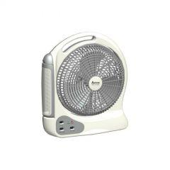 Teco Box Fan, 12 Inch With Rechargeable LED, White-KL-2412LA
