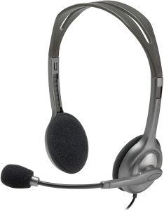 Logitech H111 Stereo Headset with Microphone - Black