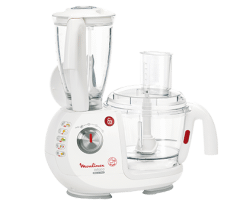 Moulinex Food Processor 1000 Watt, Multi Functions, White - FP7371