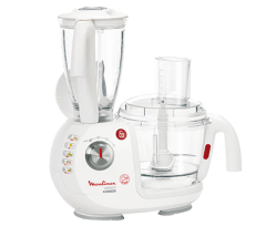 Moulinex Food Processor 900 Watt, Multi Functions, White - FP7331BM