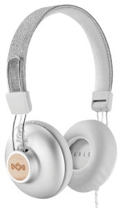 House of Marley Positive Vibration 2 On Ear Wired Headphones With Microphone, Silver- EM- JH121-SV
