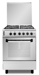 Fresh Master Gas Cooker, 4 Burners, Silver- 10578