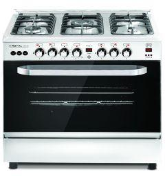 Royal Freestanding Master Chef Gas Cooker, 5 Burners, Stainless Steel, 60×90 cm