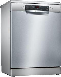 Bosch Serie 4 Free Standing Dishwasher, 12 Place Settings, Silver- SMS45JI00T