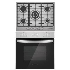 Ecomatic Built-in Set Of Gas Hob 5 Burners - S703C, Gas Oven 67 Liters - G6404T