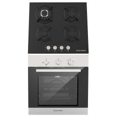 Ecomatic Built-in Set Of Gas Hob 4 Burners - S607RC, Gas Oven 67 Liters - G6404T