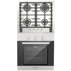 Ecomatic Built-in Set Of Gas Hob 4 Burners - S623X, Gas Oven 67 Liters - G6404T