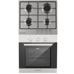 Ecomatic Built-in Set Of Gas Hob 4 Burners - S603BS, Gas Oven 67 Liters - G6404T
