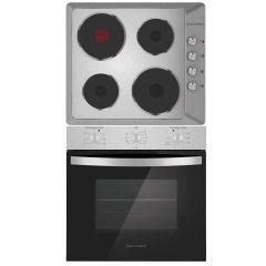 Ecomatic Built-in Set Of Electric Hob 4 Burners - ES603, Electric Oven 64 Liters - E6106P