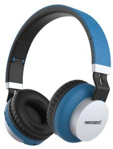 Media Tech Bluetooth Headphone With Microphone, Blue - MT-H70