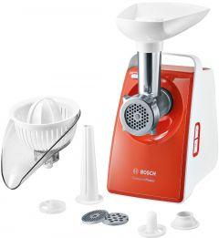 Bosch CompactPower Meat Mincer, 1600 Watt, White \ Red - MFW3630I
