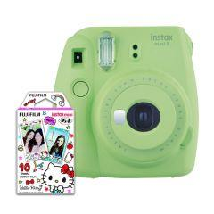 Instax Mini 9 Instant Camera With 10 Sheets Hello Kitty Film - Green