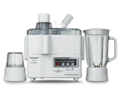 Panasonic Juicer with Attachments, 230 Watt, White - MJM176P
