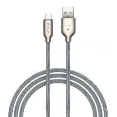 Devia Storm USB Type-C Cable, 1 Meter - Silver
