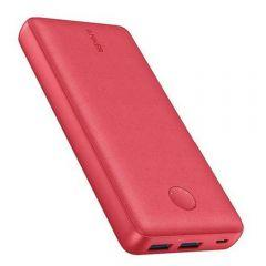 Anker Power Bank, 2 ports, 20000mAh, Red - A1363H91