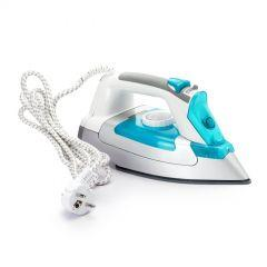 Media Tech Steam Iron, 2200 Watt, White \ Blue - MTC26
