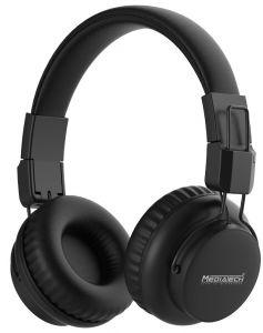 Media Tech Bluetooth Headphone With Microphone, Black - MT-H77