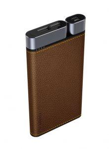 Iconz Puridea Power Bank, 10000mAh, 3 USB Ports, Brown- X01 - BROWN