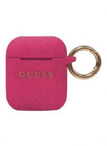 Guess Cover With Ring For Apple Airpods - Fuchsia