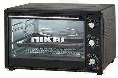 Nikai Electric Oven, 45 Liters, 1800 Watt, Black - NET45RCB