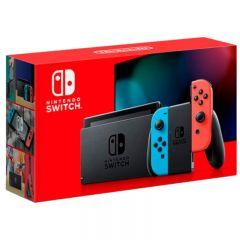 Nintendo Switch Console With Joy‑Con Controllers 2019 Model- Neon Red/Neon Blue