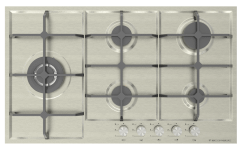 Ecomatic Gas Built-In Hob, 5 Burners, Inox- NS913C