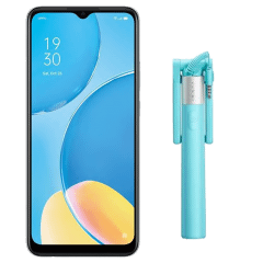 Oppo A15s Dual Sim, 64GB, 4GB RAM, 4G LTE - Fancy White with Oppo Egypt T-shirt and Selfie Stick - ZP107