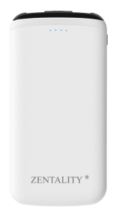 Zentality Power Bank, 10000 mAh, White- P007-Wh