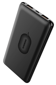 Riversong Power Bank 10000mAh, Type C, 2 USB Ports, Black- PB51BK-BK