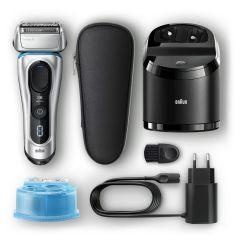 Braun Series 8 Wet & Dry Cordless Shaver, Black/Silver - 8390cc