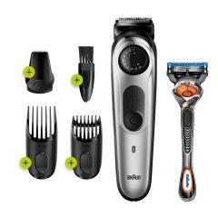 Braun Beard Trimmer with Gillette Fusion5 ProGlide Razor, Black/Silver - BT5260