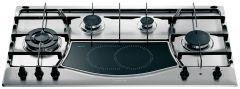 Ariston Gas/Electric Hob 90cm, 5 Cooking Zones, Wok Burner-PH941MSTVGH
