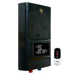 Flyon Instant Electric Water Heater with Remote Control, 12 KW, Black - Premium Gold 12 Remot.C