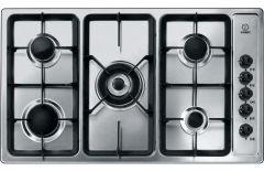 Indesit Gas Built-in Hob, 5 Burners, Silver- PIM 950 AST (GH) EX