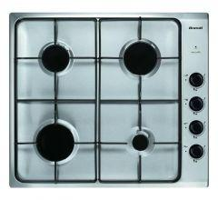 Brandt Built-In Gas Hob, 4 Burners, Stainless Steel, 60 cm - BPE6410XE
