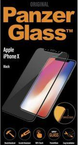 Panzer Glass Screen Protector For Apple iPhone X - Transparent with Black Frame