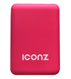 Iconz Power Bank, 10000mAh, 2 USB Ports, Red- IPBR10R