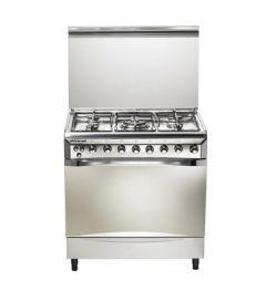 Universal Diamond Gas Cooker, 5 Burners, Stainless Steel, 85 cm - D8505