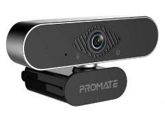 Promate ProCam-2 FHD Wired Webcam with Microphone - Black