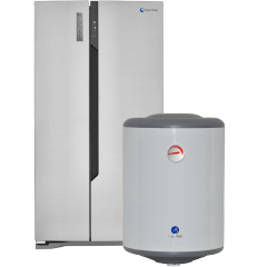 White Whale Refrigerator, 516 Liters- R8120KSS, With  Electric Water Heater, 50 Liters- WH50AE