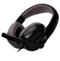 Porsh Dob Over Ear Wired Headphones With Microphone, Black - H 320