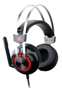 Redragon TALOS Over-ear Wired Gaming Headphones with Microphone, Black - H601