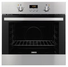 Zanussi Built-In Gas Oven With Grill, 60 cm, Stainless Steel - ZOG15311XK