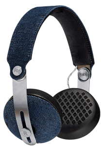 House of Marley Rise BT On Ear Wireless Headphones With Microphone, Denim - EM- JH111- DN
