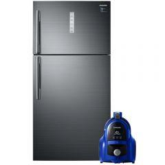 Samsung No-Frost Refrigerator, 588 Liters, Inverter Motor- RT58K7050BS, With Vacuum Cleaner, 1800W- VCC4540S36